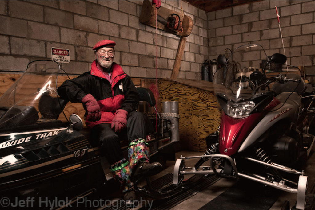 The late Boyd Sherwood, grandfather figure of the Pajarito Mountain Ski Patrol and keeper of the patrol sleds. Photo courtesy of Jeff Hylok