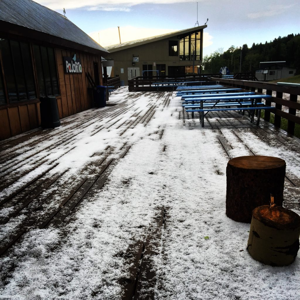 June 16 hail at Pajarito