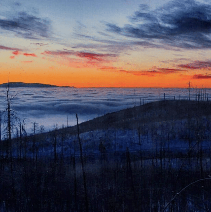 Check out this incredible sunrise pic our rental shop staff snapped at Pajarito this week!