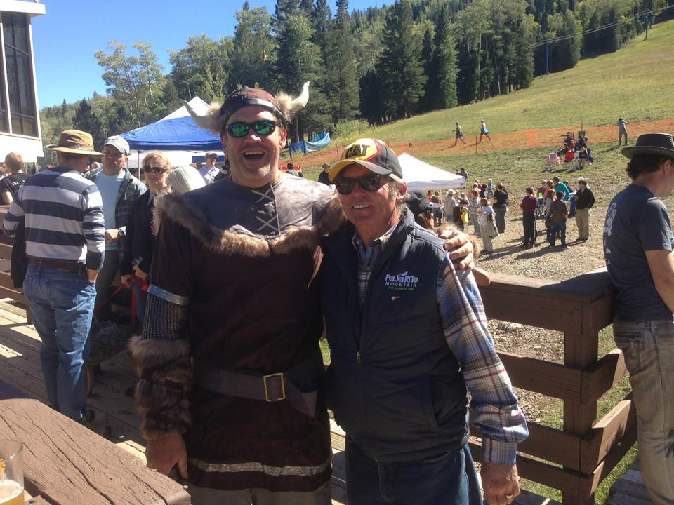General Manager, Tom Long, and an Ullrfest-goer from last year.
