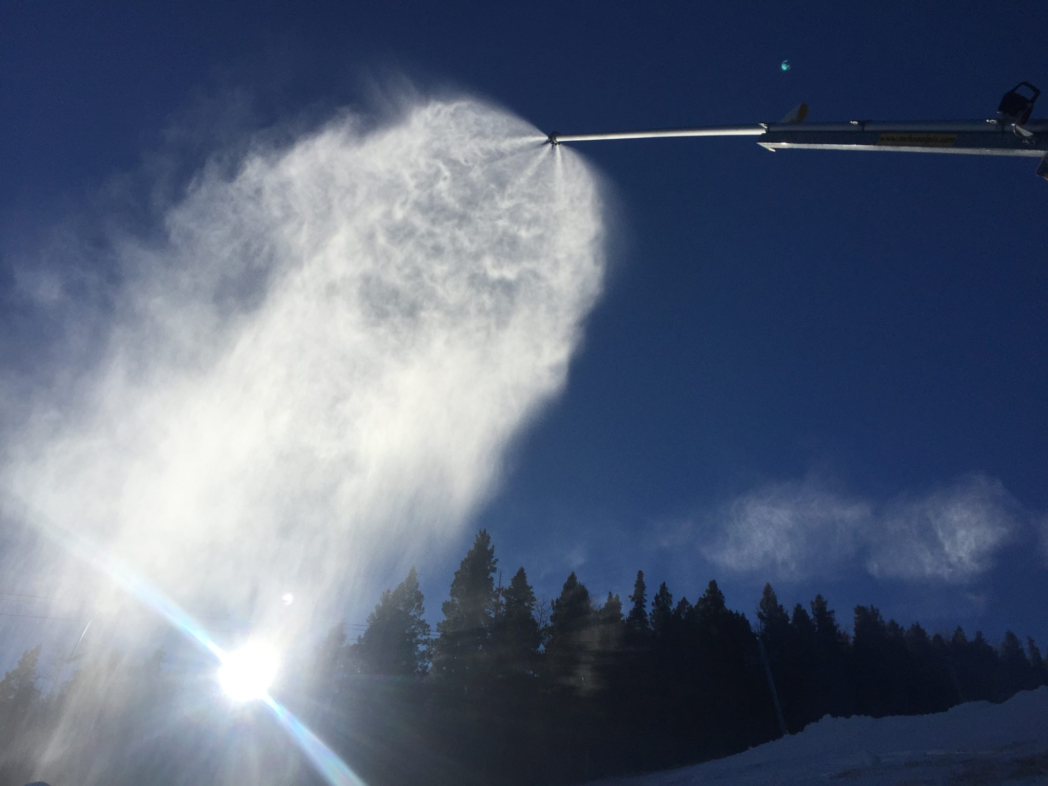 Snowmaking started on November 18
