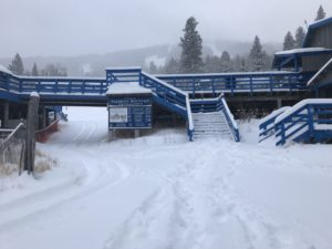 base of pajarito with snow