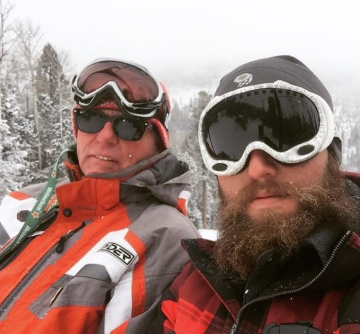 tom and tommy skiing