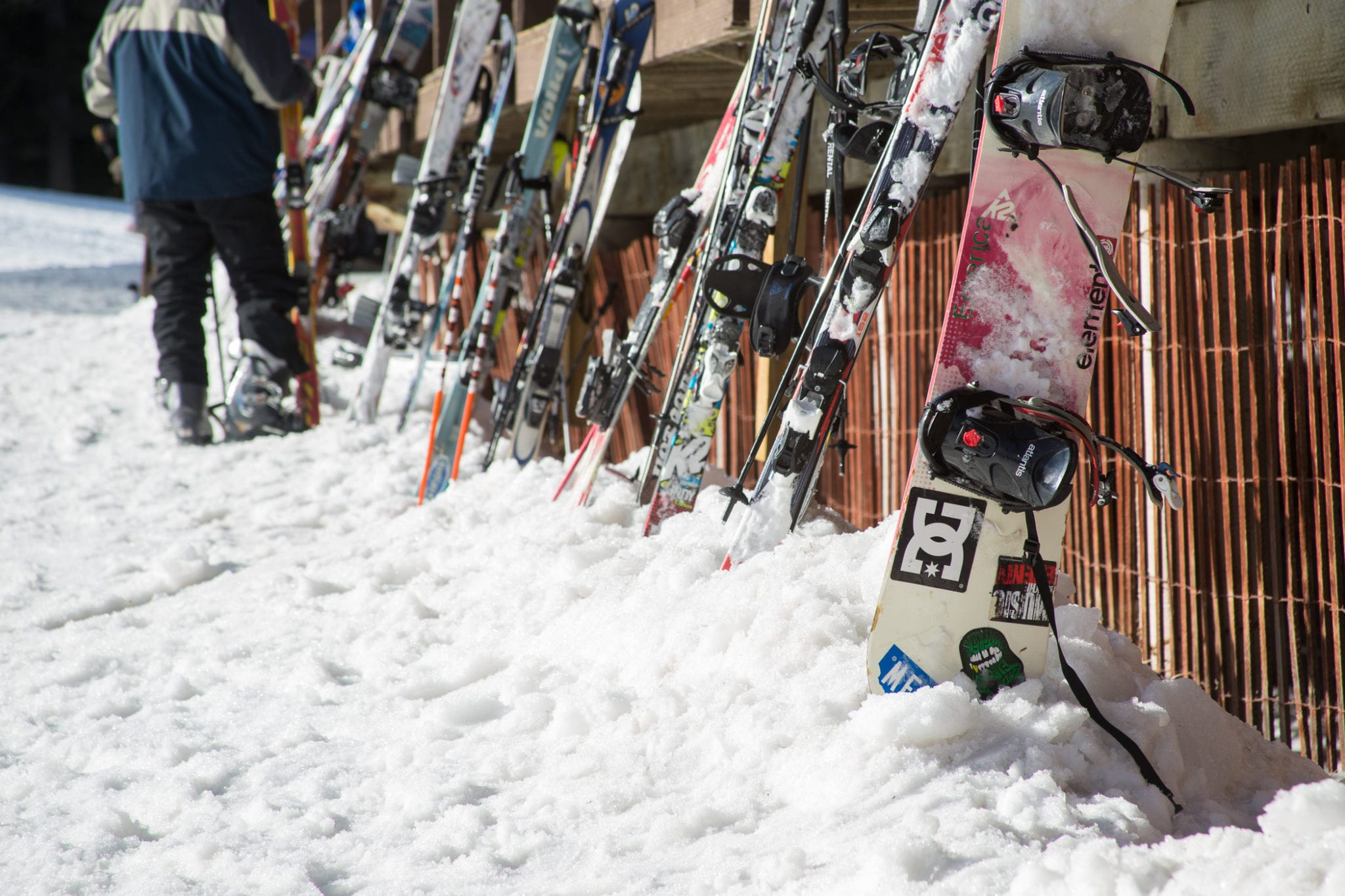 Skis and Snowboard